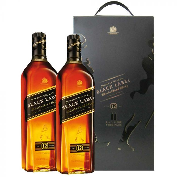 Black Label Price >> Johnnie Walker Black Label 12 Years Old Twinpack